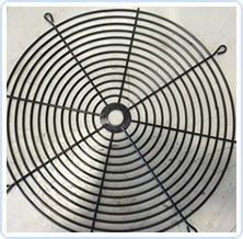 Flat Wire Forms for Fan Covering